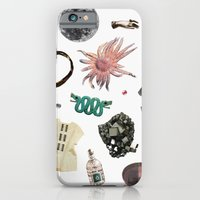 iPhone Cases featuring ACQUISITION by Beth Hoeckel Collage & Design