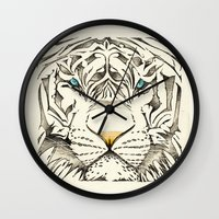 The White Tiger Wall Clock