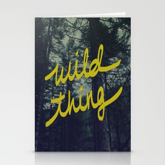 Wild Thing Stationery Card