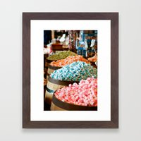 Salt Water Taffy Framed Art Print