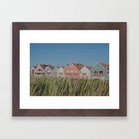Stripes Row Framed Art Print