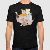 Accessory Cats Mens Fitted Tee Tri-Black SMALL