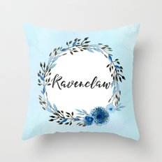 HP Ravenclaw In Watercol… Throw Pillow