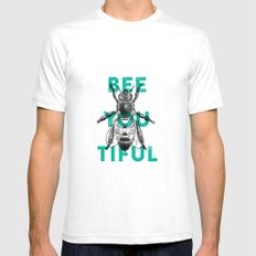 Bee-you-tiful SMALL Mens Fitted Tee White