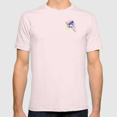 Small bird Mens Fitted Tee Light Pink SMALL