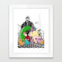 A day at the park Framed Art Print