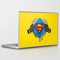 superman Laptop & iPad Skins featuring Superman  by Wave Sports