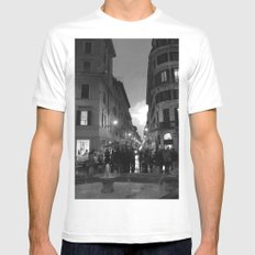 As Day Fades Mens Fitted Tee SMALL White