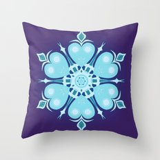 Heartflake Throw Pillow