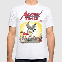 Action Toast Mens Fitted Tee Ash Grey SMALL