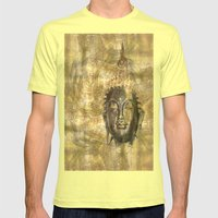 Buddha Antique Mens Fitted Tee Lemon SMALL