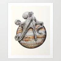 Celestial Cephalopod Art Print