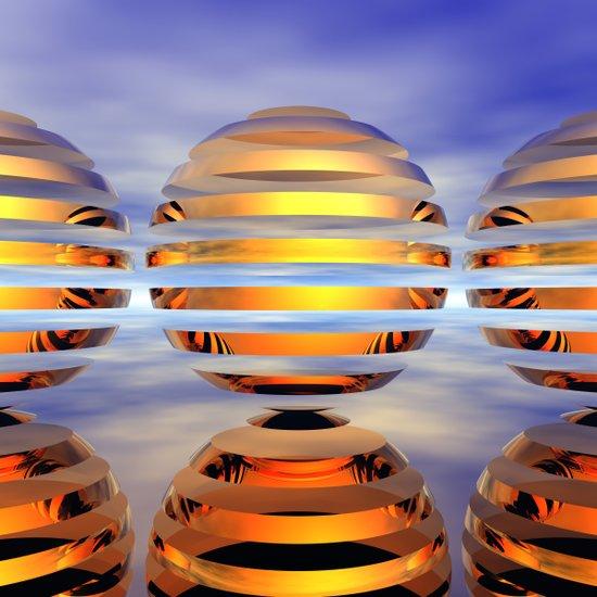 Split Spheres (Day) Art Print