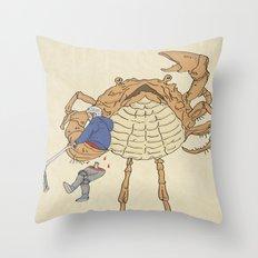 SCALLY CRAB Throw Pillow