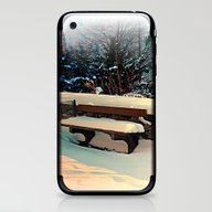 Snow Covered Bench iPhone & iPod Skin