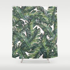 banana leaf 3 Shower Curtain