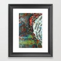 Layered 2 Framed Art Print