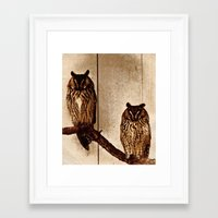 Couldn't Give Two Hoots! Framed Art Print