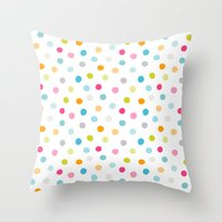 Chickweed Mid Dots Throw Pillow
