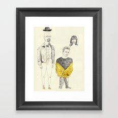 walt and jesse Framed Art Print