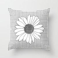 Daisy Grid Throw Pillow
