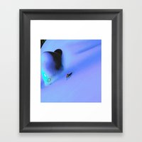 Bug on the blue Framed Art Print