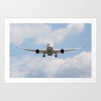 United Airlines Boeing 7… Art Print