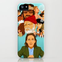 iPhone Cases featuring The World of Wes Anderson by Lauren Draghetti