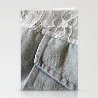 jean + lace Stationery Cards