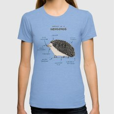 Anatomy Of A Hedgehog Womens Fitted Tee Tri-Blue SMALL