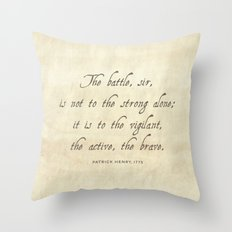 The Battle by Patrick Henry Throw Pillow