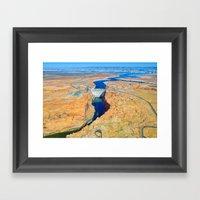 Glen Canyon Dam Framed Art Print
