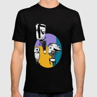 Monsters´s Familiy Mens Fitted Tee Black SMALL