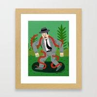 Man with Snakes Framed Art Print