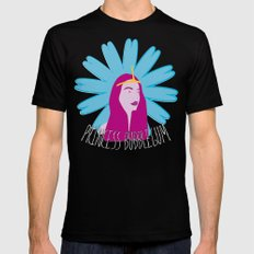 Princess Bubblegum SMALL Black Mens Fitted Tee
