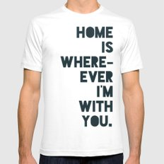 Home is with You SMALL Mens Fitted Tee White