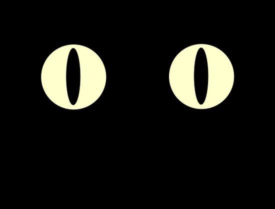 Cat Eyes (Black Cat) Art Print