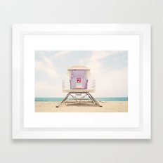 Lifeguard Tower 2  Framed Art Print