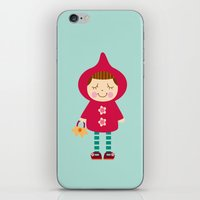 iPhone & iPod Skin featuring Little red riding hood by Milanesa