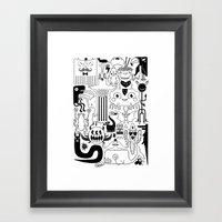Monsters Ink Framed Art Print