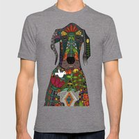 Great Dane Love Midnight Mens Fitted Tee Tri-Grey SMALL