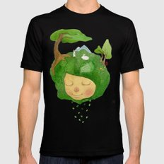 lucky SMALL Black Mens Fitted Tee