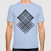 Geometric Tribal Mens Fitted Tee Athletic Blue SMALL