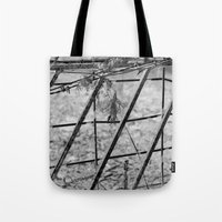 Shades of Fence Tote Bag