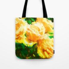 Apricot Roses Tote Bag