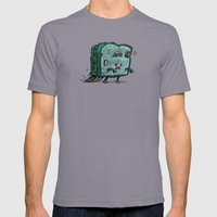 Moldy Sandwich Bot Mens Fitted Tee Slate SMALL