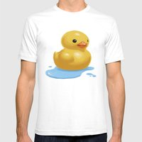 Quack Mens Fitted Tee White SMALL