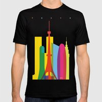 Shapes Of Tokyo. Accurat… Mens Fitted Tee Black SMALL