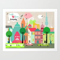 With Love from Leipzig Art Print