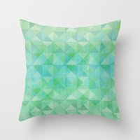 Green/Blue : Pattern Throw Pillow